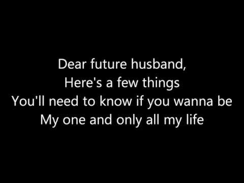 Meghan Trainor ~ Dear Future Husband Lyrics