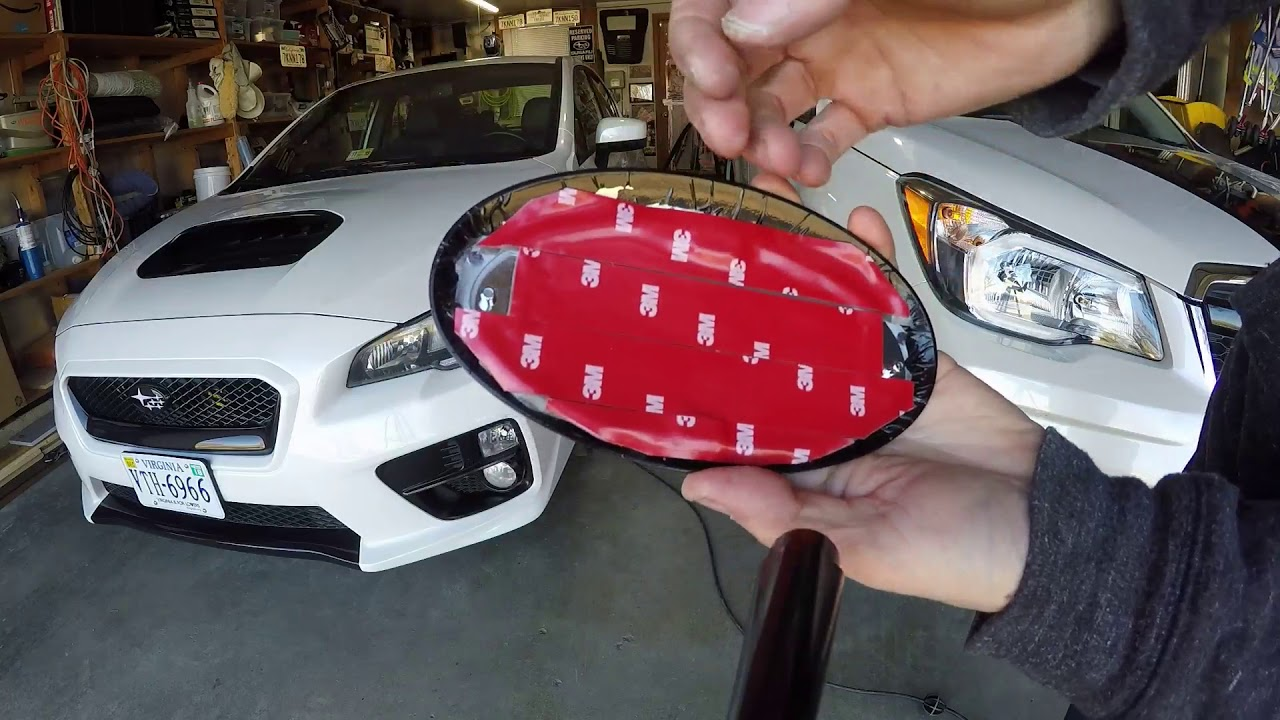 2015-up Red Glossy Front Grille WRX Badge Emblem For WRX STI