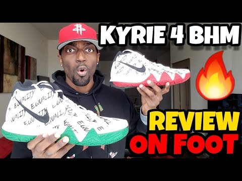 KYRIE 4 BHM REVIEW & ON FOOT!! Are These The Best BHM?