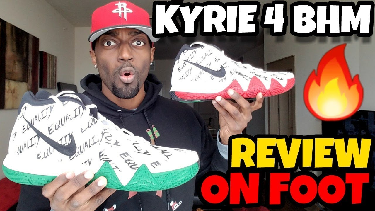 7b9832c67d7 KYRIE 4 BHM REVIEW   ON FOOT!! Are These The Best BHM  - YouTube