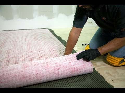 protect tile with redgard uncoupling mat crack isolation and waterproofing membrane