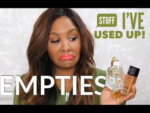 Empties - Stuff That I've Used Up!