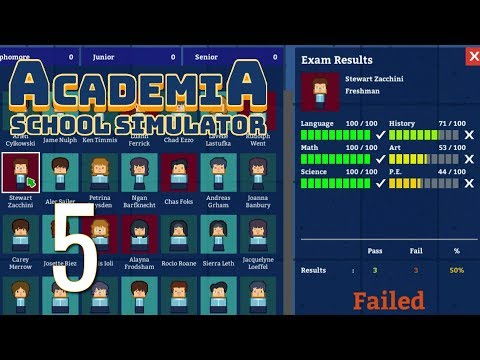 Ep 5 -  Year 1 grades? FAILURE! (Let's play Academia: School Simulator)