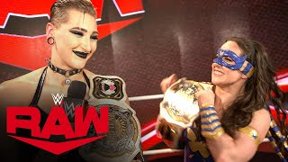 Rhea Ripley \u0026 Nikki A.S.H. reflect after an emotional victory: Raw Exclusive, Sept. 20, 2021
