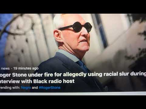 Roger Stone Used Racial Slur On Mo'Kelly Radio Show, Then Says He Did Not; Listen For Yourself