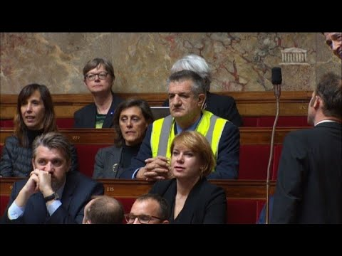 French MP joins yellow vest protest during Assembly session
