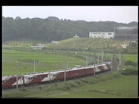 【EF81】EF81 95レインボー色+スーパーエクスプレスレインボー 常磐線石岡