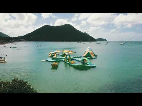 St Lucia, Rodney Bay, Blue Water, What To Do in Reduit Beaches, Footage, Drone,