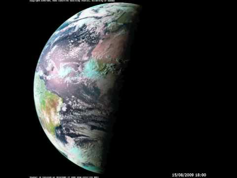 Earth Timelapse from Geostationary Satellite