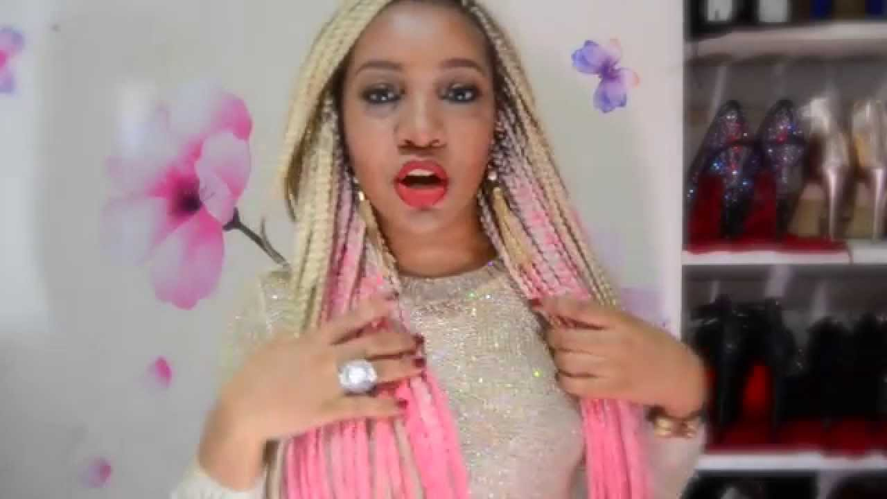 Ombre Pink Box Braids - YouTube