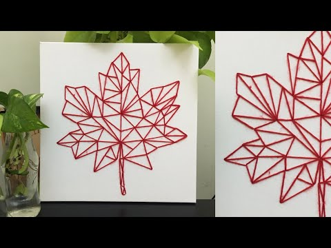 diy canvas string art | string art tutorial for beginners | DIY wall hanging tutorial | home decor thumbnail