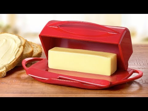 Like spreadable butter? Use this butter dish.