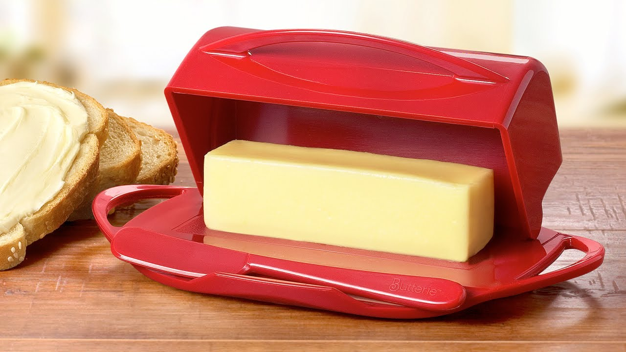 Butterie Flip-Top Butter Dish with Matching Spreader