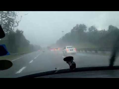 Heavy rain while travelling on Malaysia