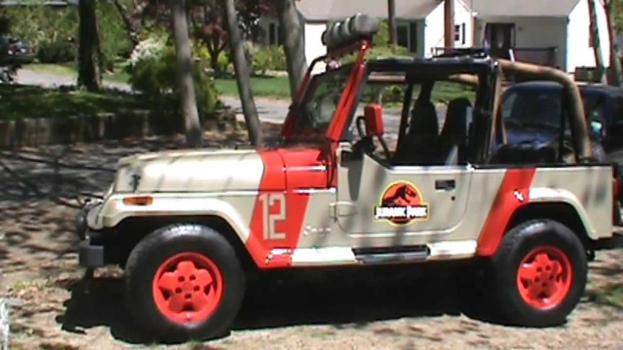 jurassic park jeep goes camping youtube. Black Bedroom Furniture Sets. Home Design Ideas