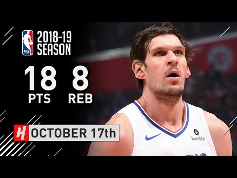 Boban Marjanovic Full Highlights Clippers vs Nuggets 2018.10.17 - 18 Pts, 8 Reb