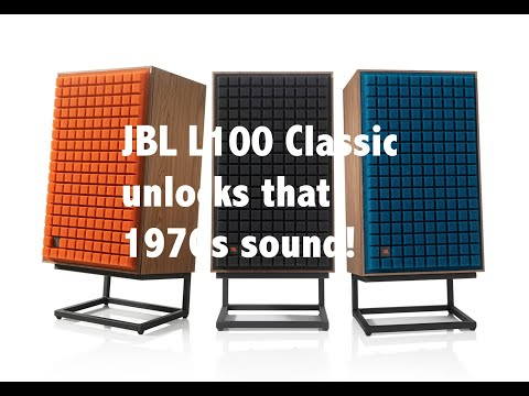 Listening Test: JBL L100 Classic speakers - YouTube