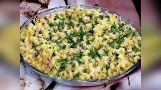 Макароны с сыром и мясом. Домашняя кулинария. Быстро и вкусно.