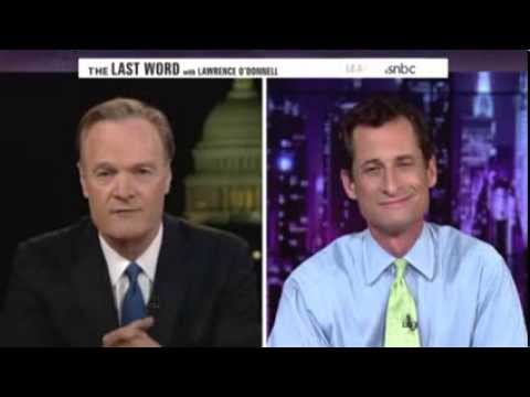 Anthony Weiner + Lawrence O'Donnell = Train Wreck
