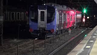 東北本線 白河駅 阿武隈急行 AB900系甲種輸送 発車 2019.02.21