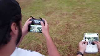 Dji MAVIC vs Phantom 4 Pro Plus - corrida!!!!! 29/11/2016