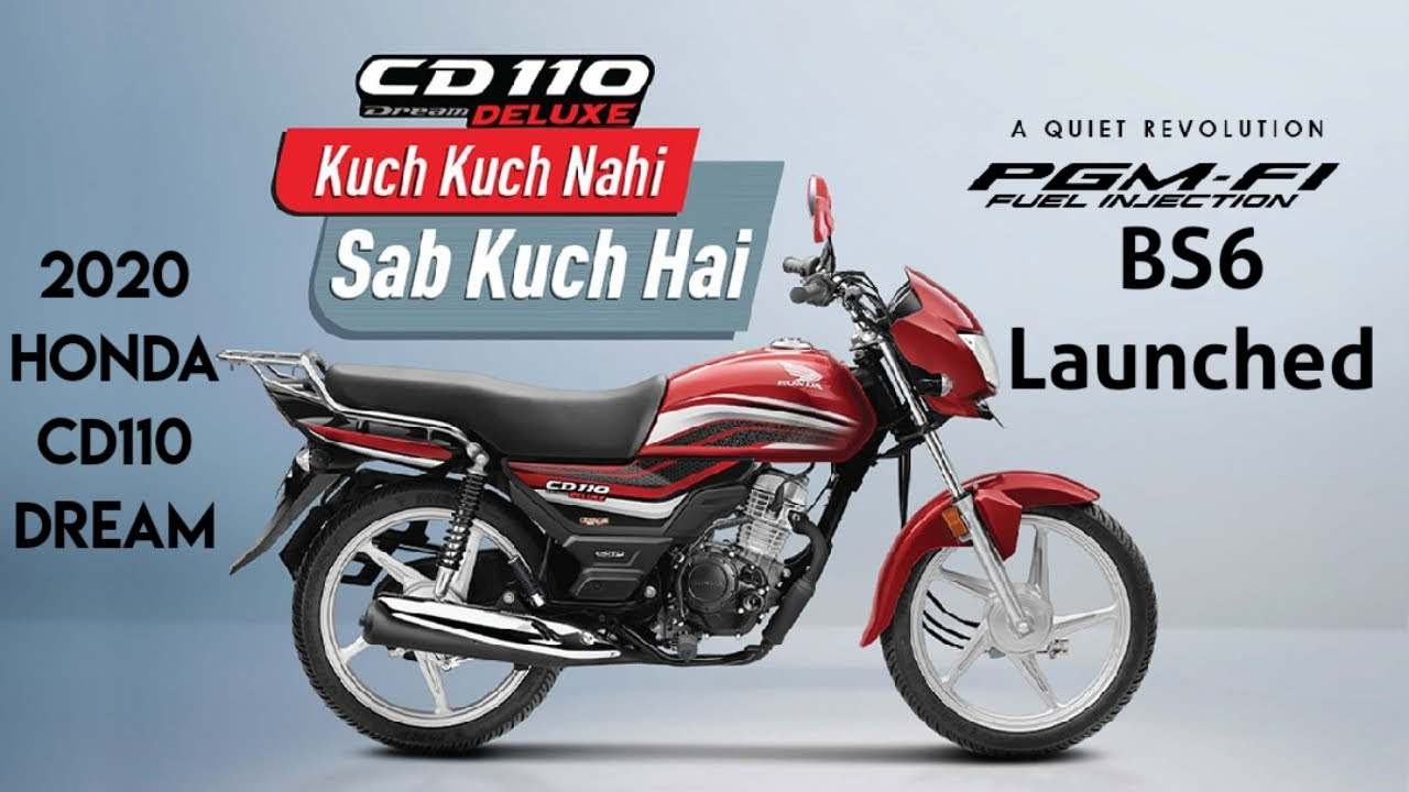 2020 bs6 honda cd110 dream launched - youtube