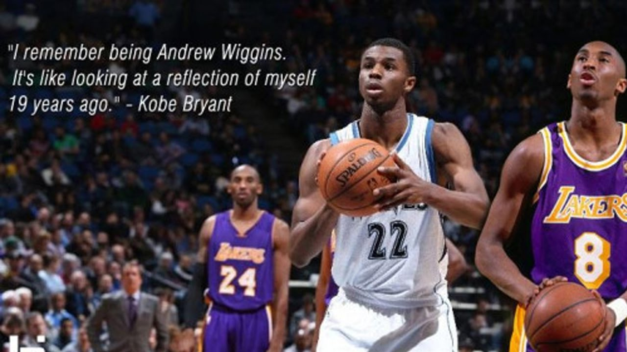 wholesale dealer 926a5 67e5d Andrew Wiggins IS THE NEXT KOBE BRYANT! Wiggins Drops Career High 47  Reaction - YouTube