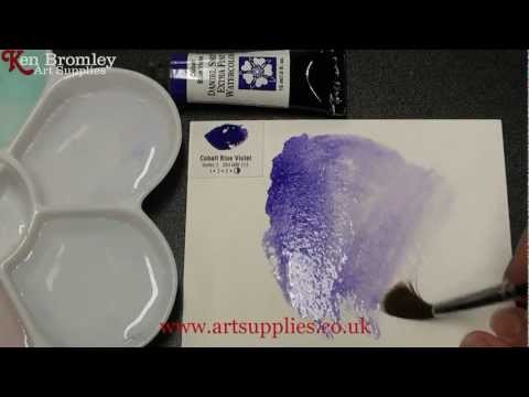 Daniel Smith Extra Fine Watercolour Cobalt Blue Violet 115 Series 3