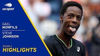 Gael Monfils vs Steve Johnson Highlights | 2021 US Open Round 2