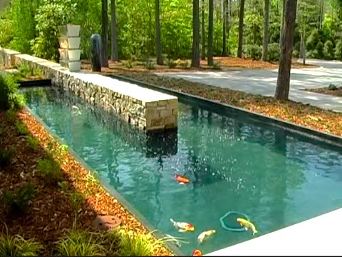 How to build a bubble less koi pond time lapse in slide for How to build a koi pond on a budget