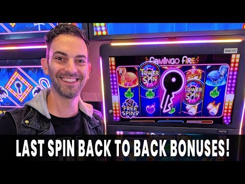 🗝 Back To Back On FLAMINGO FIRE 🔥 Last Spin WIN!