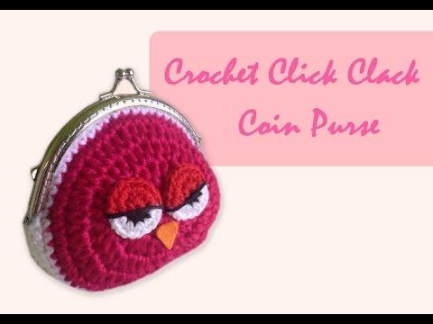 ถักกระเป๋าปิ๊กแป๊กโครเชต์ (English Subtitles/Crochet Owl Coin Purse)