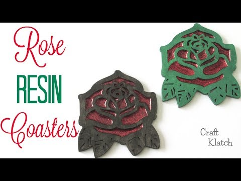 Rose Resin Coasters | Another Coaster Friday | Craft Klatch