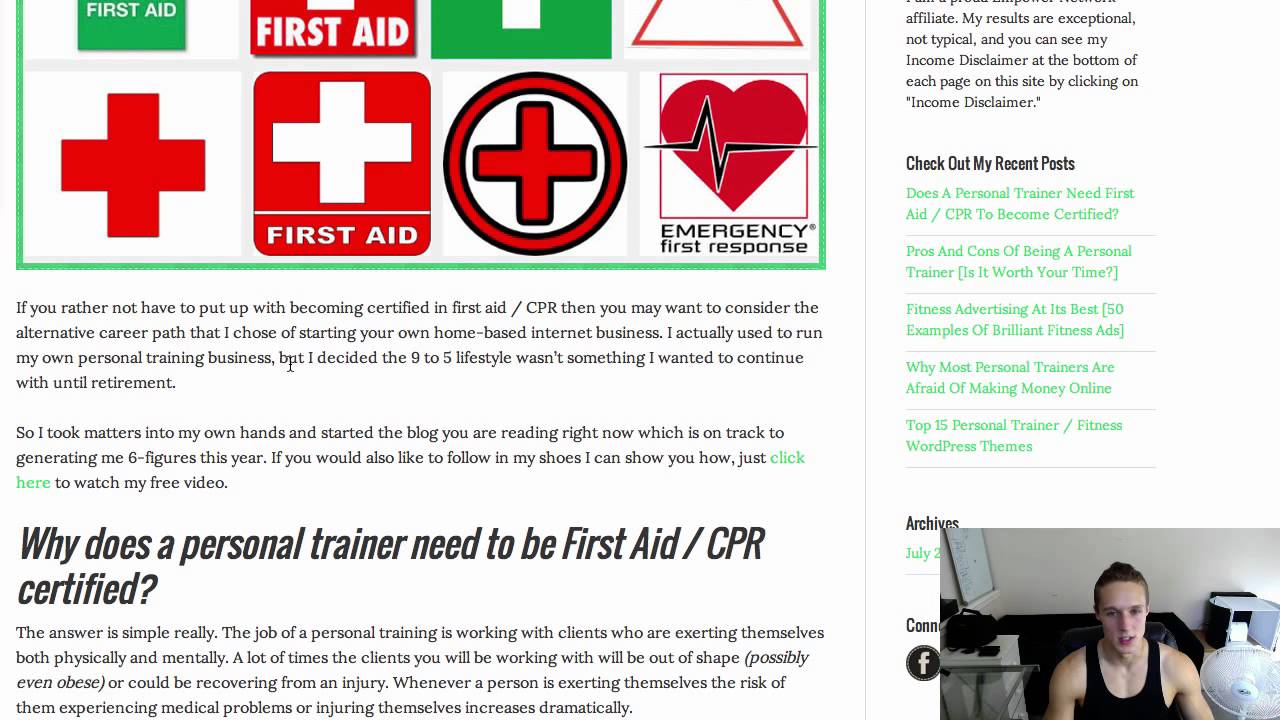Do personal trainers need first aid cpr youtube do personal trainers need first aid cpr 1betcityfo Images