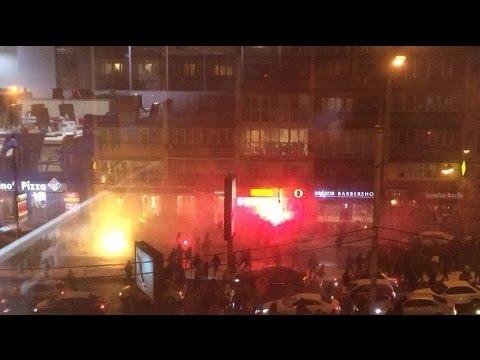C1 Dynamo Kiev - Besiktas Istanbul Provocation and hooligan fight Full version