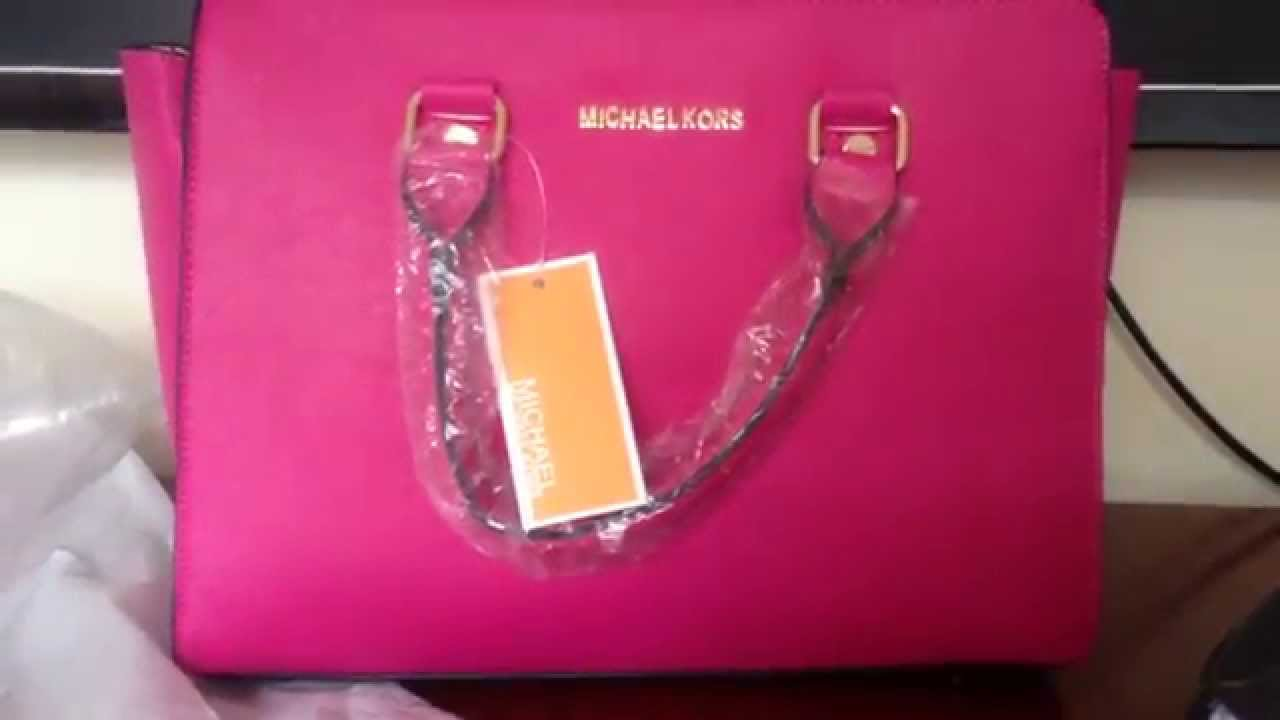 Bolsa De Couro Michael Kors : Bolsa r?plica da michael kors rosa