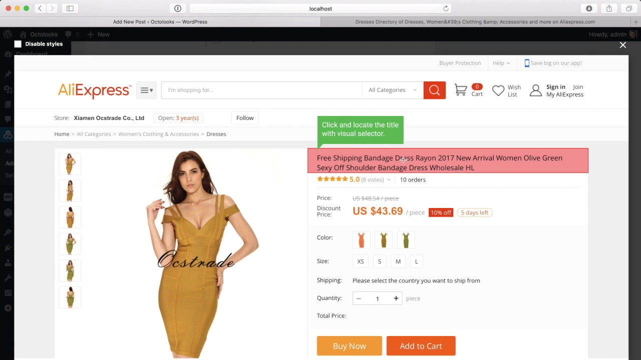 Creating a basic serial WooCommerce product scraper to scrape products from  AliExpress with Scrapes