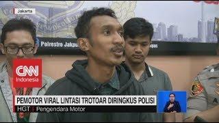Pemotor Viral Pukul Pejalan Kaki Diringkus Polisi