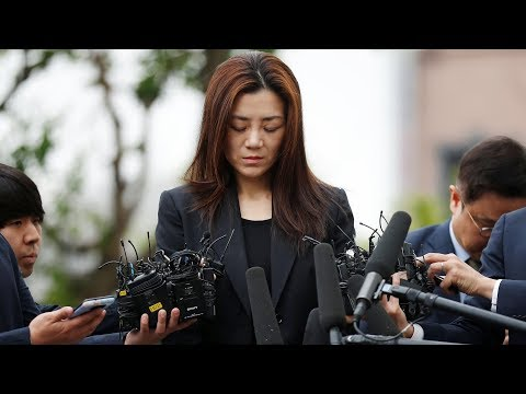 Korean Air 'nut rage' sister appears for police questioning