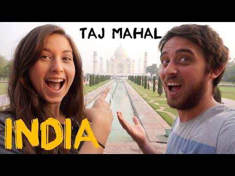 Taj Mahal Agra India  Wonder of the World and India's Famous Monument Travel Vlog