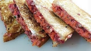How to Make Veg Mayo Sandwich / Mayonnaise Sandwich at Home / Veg Grilled Sandwich ~ Fusion Cuisine