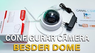 COMO CONFIGURAR CAMERA IP SEM FIO WIFI FULL HD 1080P BESDER DOME