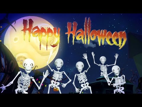 Five Spooky Skeletons | Halloween Songs & Kids Music By Little Treehouse
