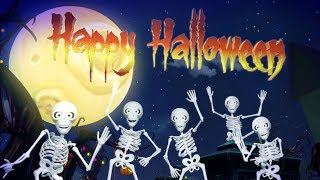 Five Spooky Skeletons | Halloween Songs & Kids Music by Little Treehouse