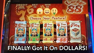 YES! Got the Bonus on High Limit Lucky 88!  Slot Achievement Unlocked + Handpay Jackpot 😃