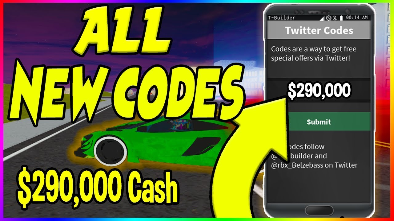 NEW WORKING CODES IN VEHICLE SIMULATOR | Roblox *WORKING ...