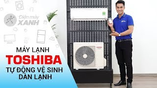 Máy lạnh Toshiba Inverter 1 HP RAS-H10DKCVG-V - Tự động vệ sinh dàn lạnh   Điện máy XANH