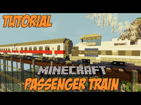 how to make a working train in minecraft