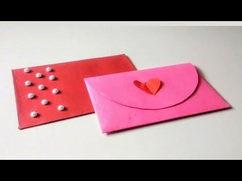 How to make a fancy paper Envelope || DIY - Easy Paper envelope tutorial.