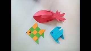 dIY : Рыбки из Цветной Бумаги ***День РЫБАКА***Поделки из Бумаги***Подарок Рыбаку***Paper FISH